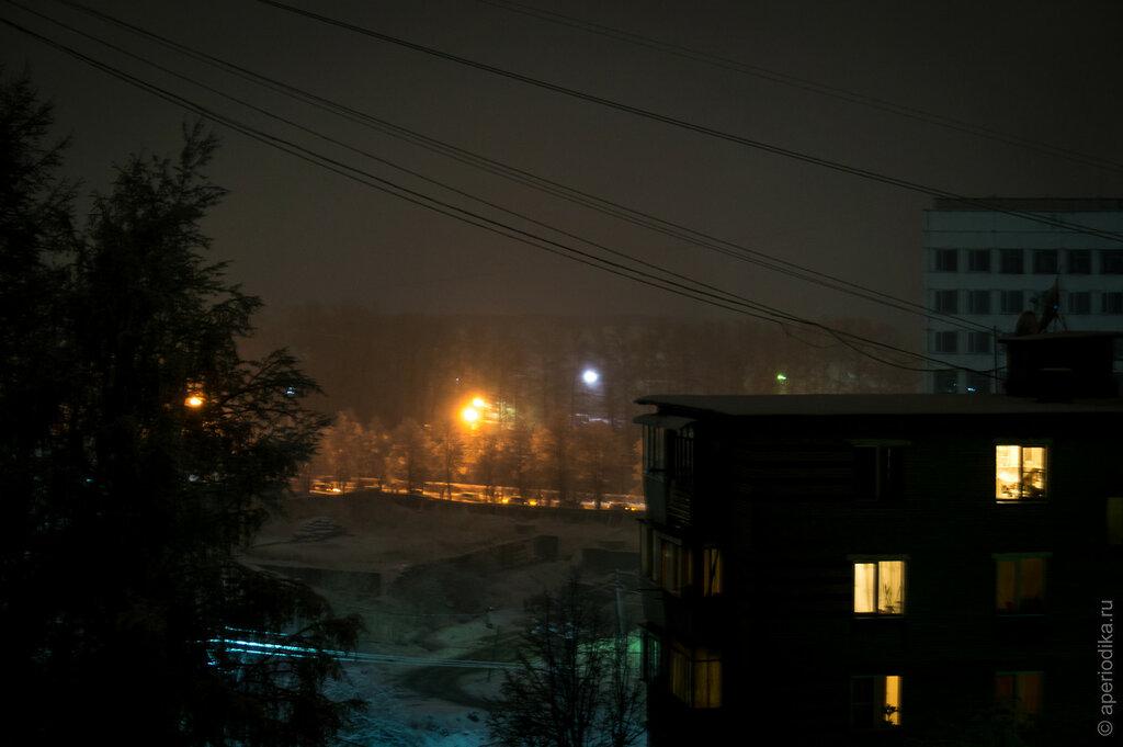 Златоуст. Май. Ночь. Снег