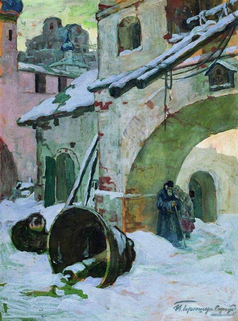 «Упавшие колокола»1930-еКартон, гуашь. 71 x 52.3 смПензенская областная картинная галерея им. К.А.Савицкого