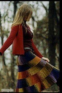 Осенняя радуга - юбка спицами