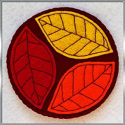 Подставка под кружку Осенние листья 1 из фетра