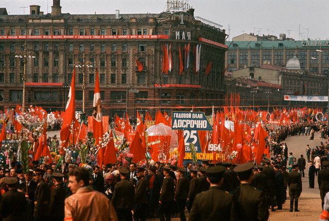 Parade In Red Square on May Day