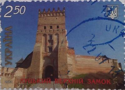 2012 N1253-1259 (b107) блок 7 чудес Украины (замки) луцкий 2.50