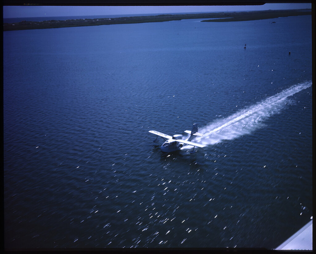 Republic RC-3 Seabee (rn NC87457) during a take-off run from open water