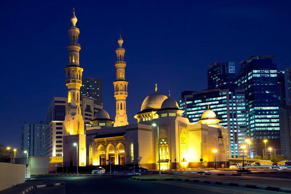 UAE  Mesquitas do emirado de Sharjah.