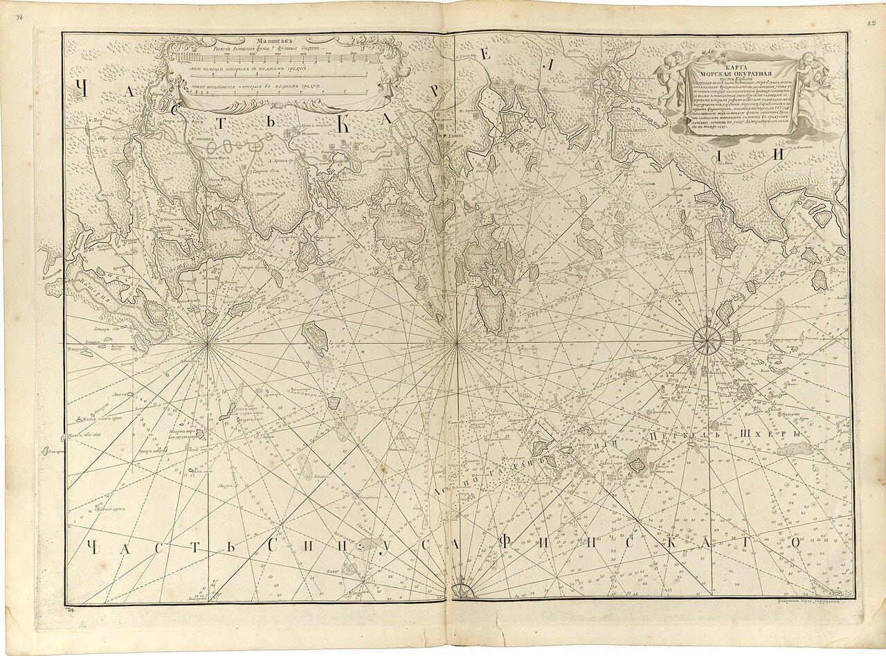 13.  Карта морская аккуратная