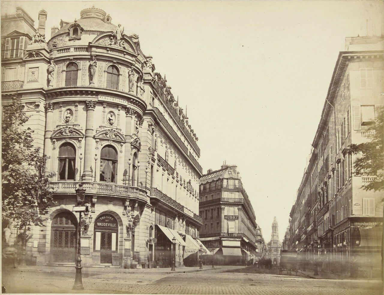 1850-е. Уличная сцена возле Театр Водевиль