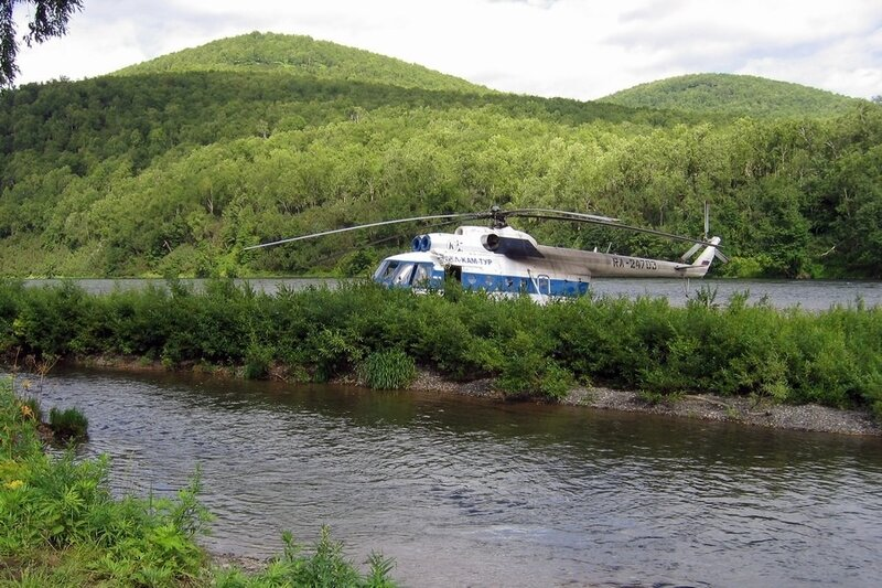 Вертолет, Камчатка