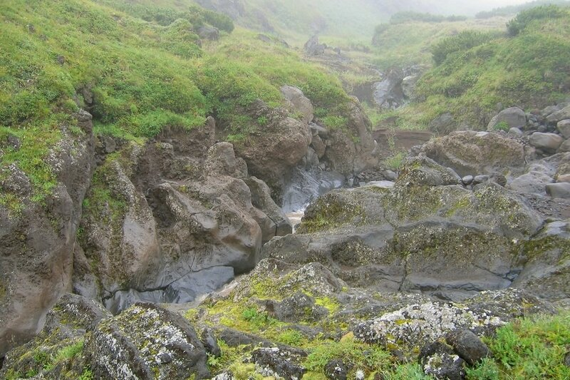 Камчатка, ручей Водопадный