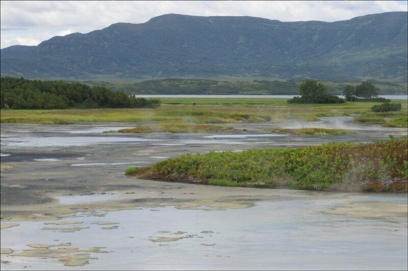Хлоридное озеро в кальдере Узон, Камчатка