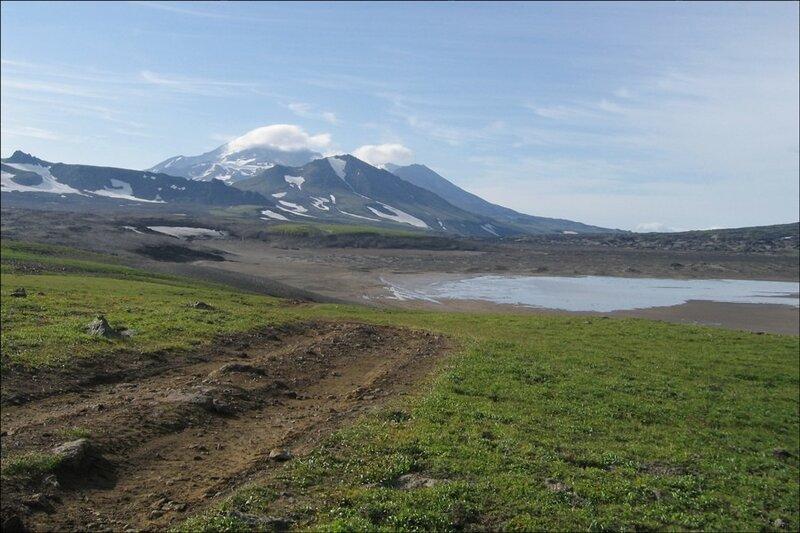 Мутновский вулкан, кальдера вулкана Горелый, Камчатка