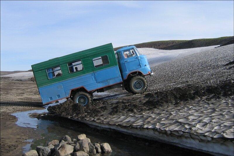 Камчатка, IFA, вахтовка, дорога на Мутновский вулкан
