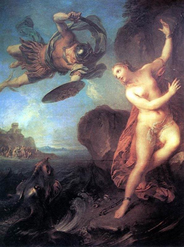 Персей и Андромеда, Франсуа Лемуан, 1723 г.Лондон, собрание Уоллеса