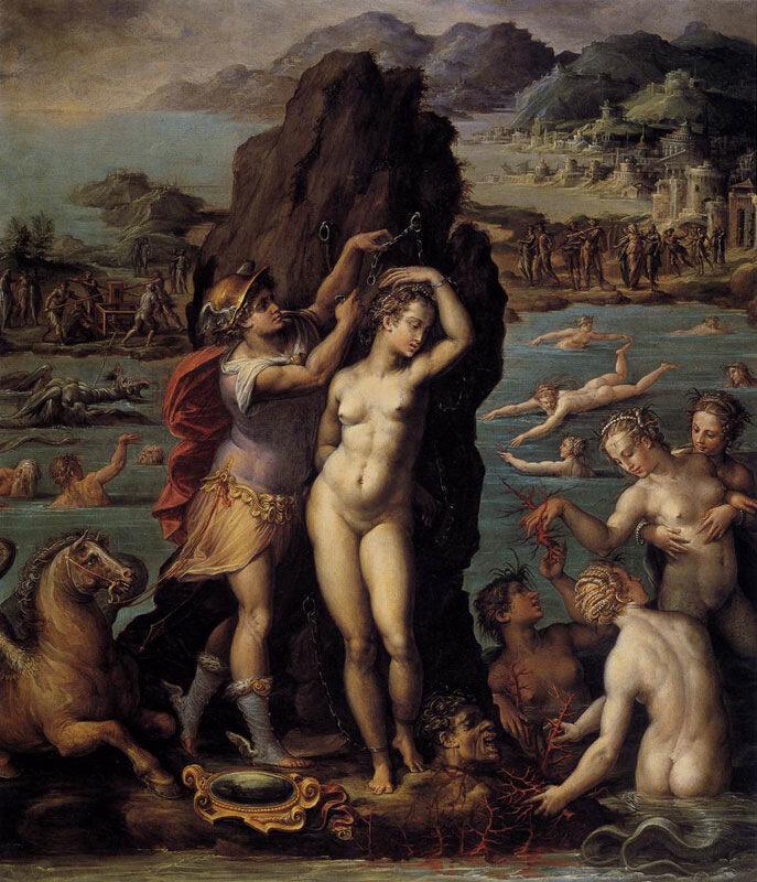 Персей и Андромеда, Джорджо Вазари, 1570-72 гг.Флоренция, палаццо Веттио