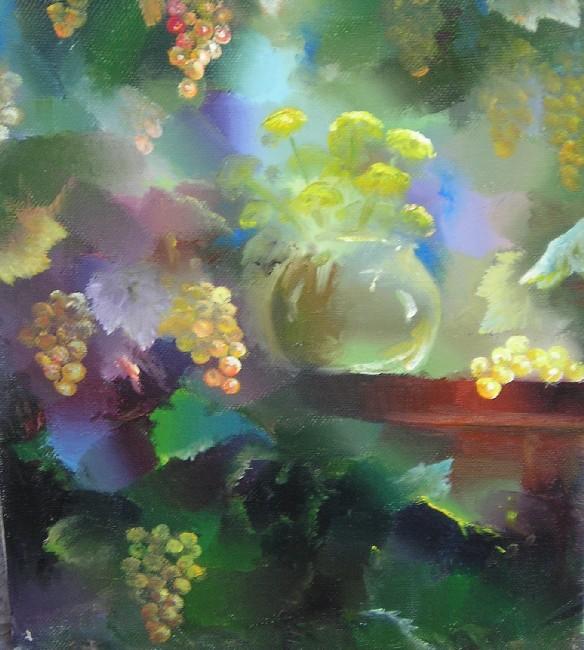 Гиви Сипрошвили, Натюрморт с виноградом, эскиз