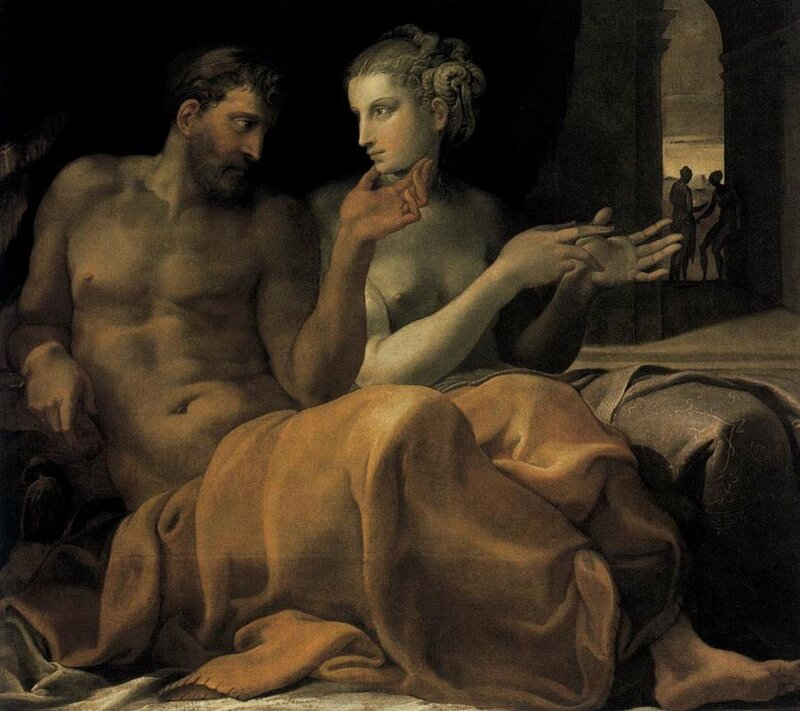 Приматиччо Франческо, Одиссей и Пенелопа, 1545, Метрополитен-музей, Нью-Йорк