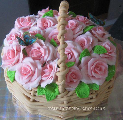 Цветы торт фото