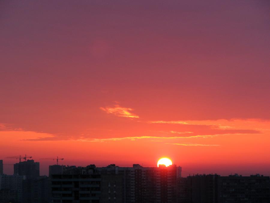 восход, пейзаж, солнце
