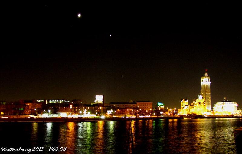 1160.08 Луна, Венера и Юпитер над Москвой