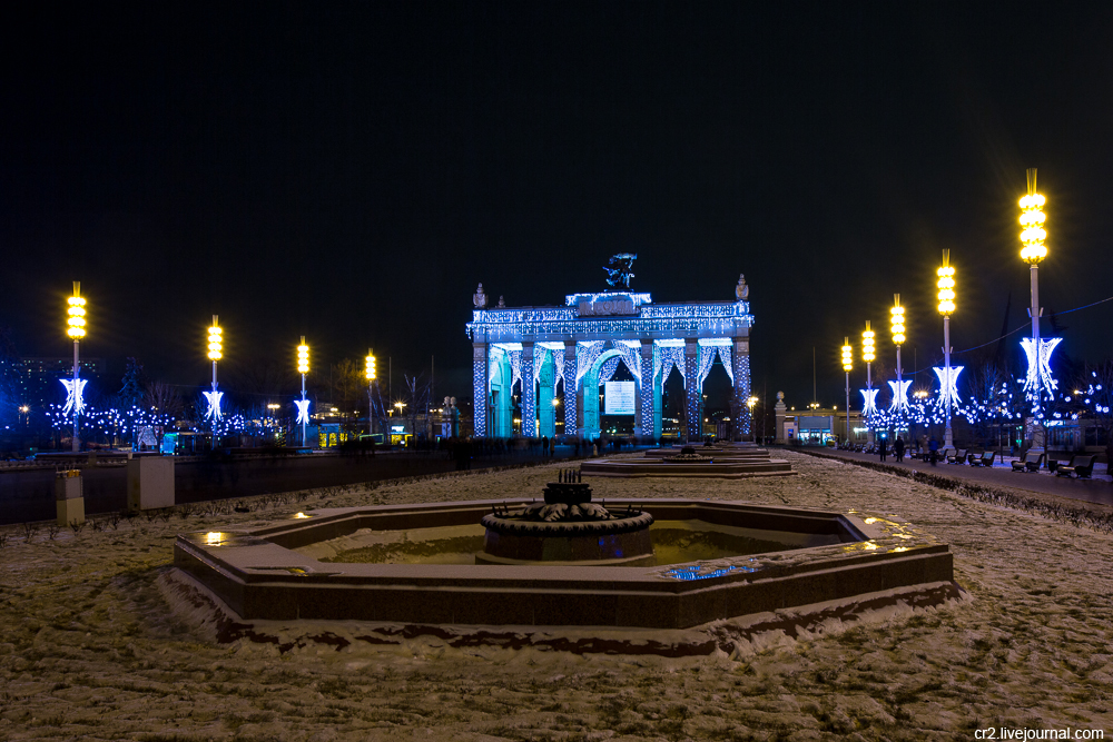 New Year celebration at VDNKh