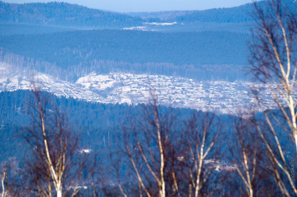 Город Златоуст. Лысая гора. Зима-2015
