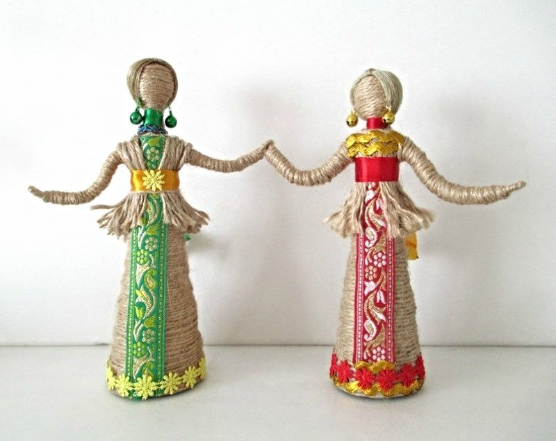 Куклы из джута своими руками 57