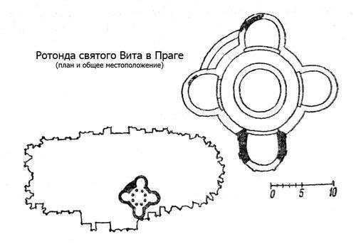 Ротонда святого Вита в Праге, план