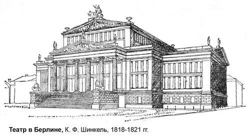 Театр в Берлине, общий вид, рисунок