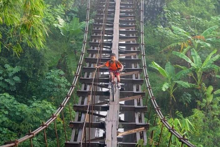 мост над джунглями индонезия остров ява