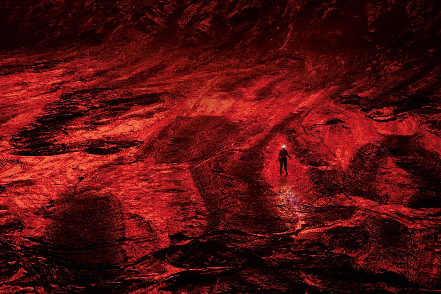 Группа исследователей National Geographic спустилась в кальдеру вулкана Ньирагонго на территории