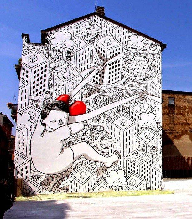 Уличный художник Millo.