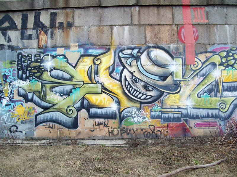 Граффити Улыбка Фредди Крюгера