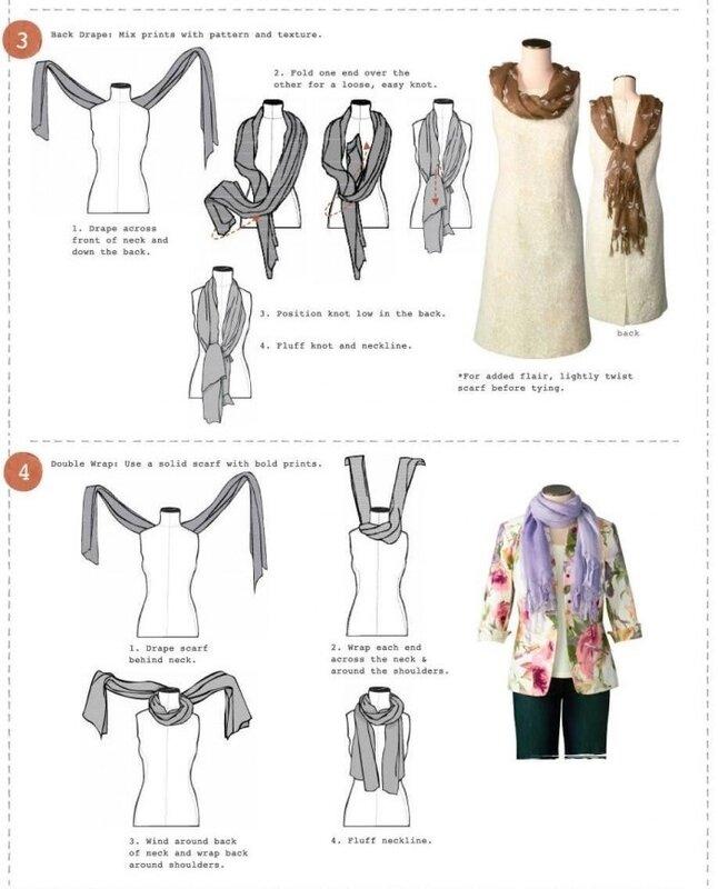 как завязать шарф инструкция