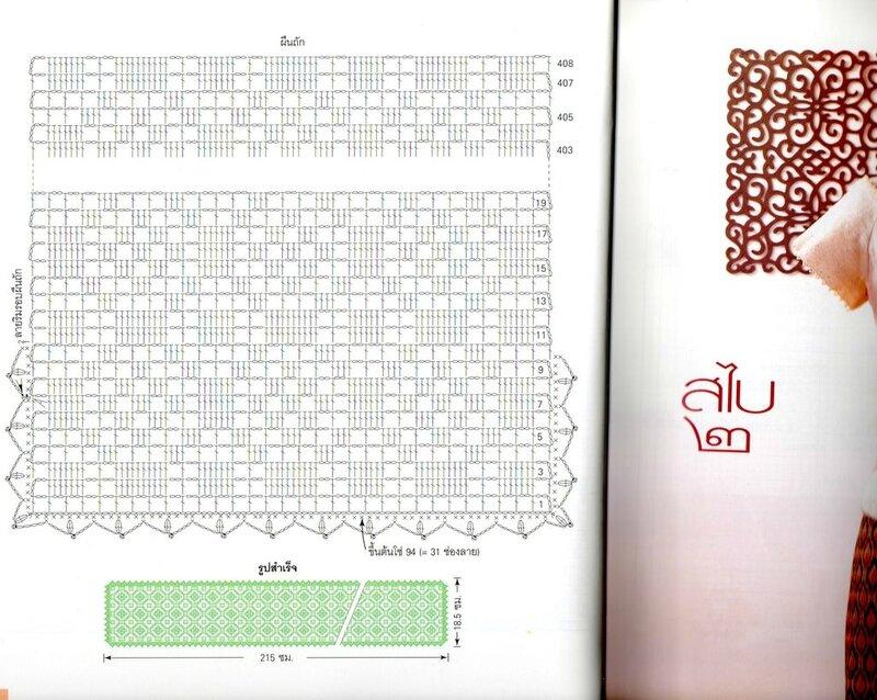 【转载】钩针杂志:围巾 - 荷塘秀色 - 茶之韵
