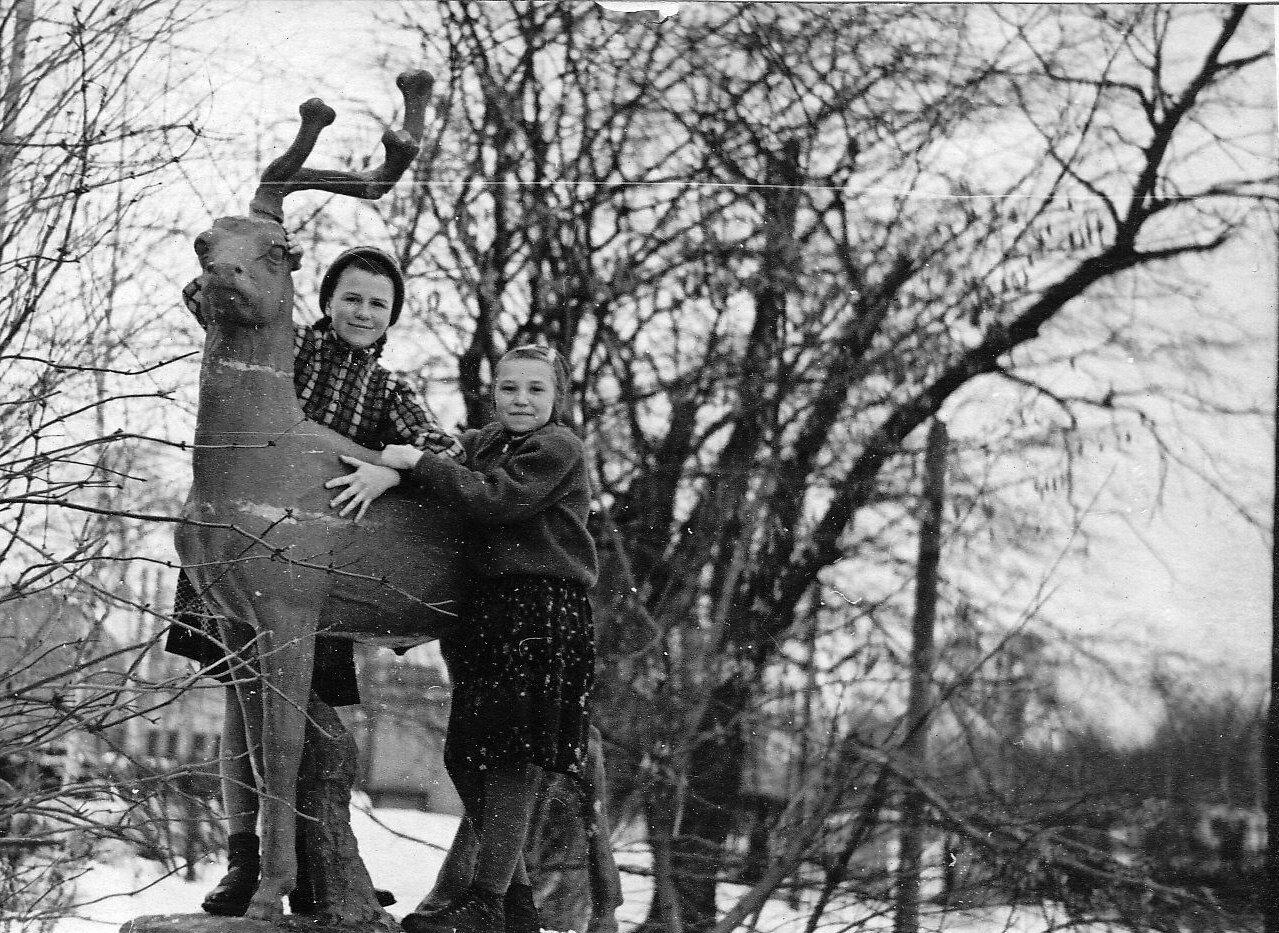 1950-е. В парке ВПВРЗ