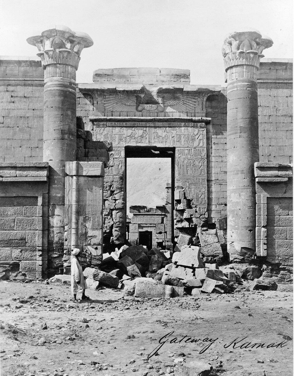 Карнак (Фивы). Вход. 1858