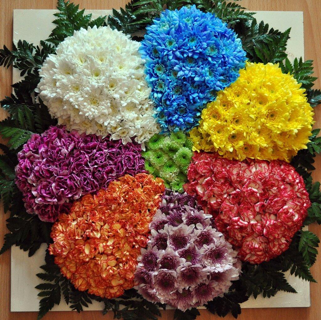 Сделать поделку своими руками из живых цветов