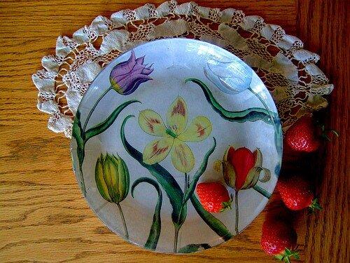 обратный декупаж тарелки мастер класс