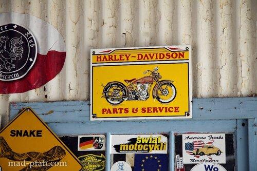 харлей девидсон, мотоцикл, сша, музей, дорога 66, route 66, табличка