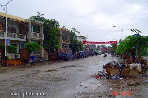 китайская деревня, хайнань, китай