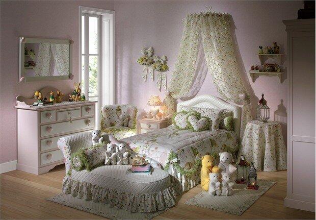 детская комната для девочки 2х лет.
