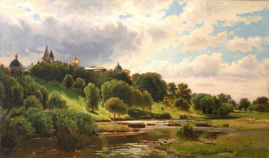 """Каменев Лев Львович """"Вид на Савинно-Сторожевский монастырь"""", 1877"""