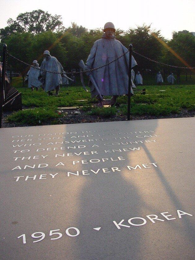 Мемориал ветеранам Корейской войны. Национальная аллея. Вашингтон.