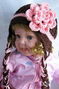 Шапка-шарф с косами, связанная крючком.  Размер шапки: 58 см. Вам...