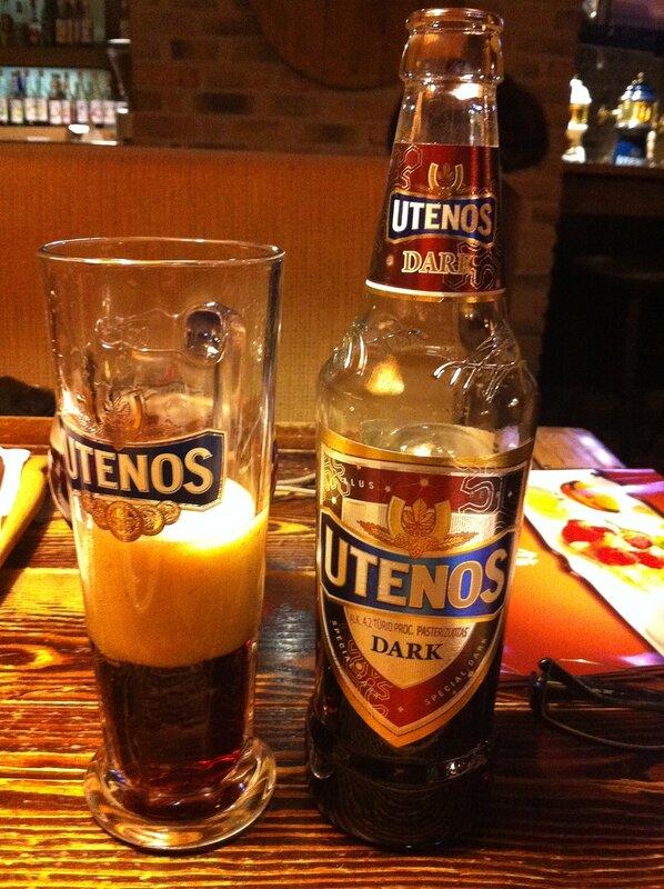 Утенос - темное пиво