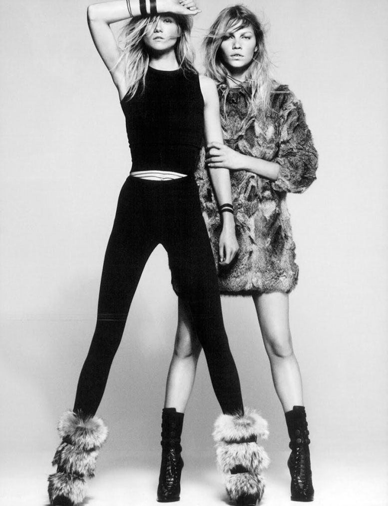 модели Кася Струсс и Алина Вебер / Kasia Struss and Aline Weber, фотограф Paola Kudacki