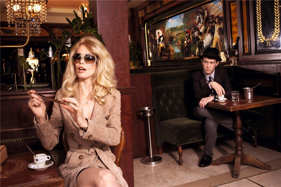 Клаудия Шиффер и Джозеф Гордон-Левит / Claudia Schiffer and Joseph Gordon-Levitt by Ellen von Unwerth for GQ Italy april 2008