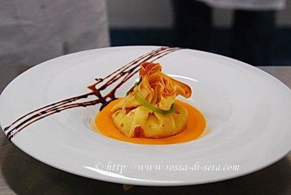 Rossa di sera una cena in giallo a tavola con lo chef for Decorazioni piatti gourmet