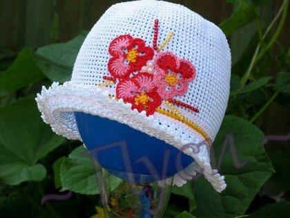 Вязание крючком: Шляпка Пряжа.  Фото 1.