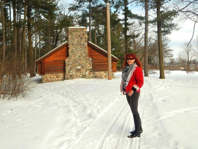 В зимнем парке.