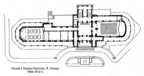 Музей в Градец-Кралове, план